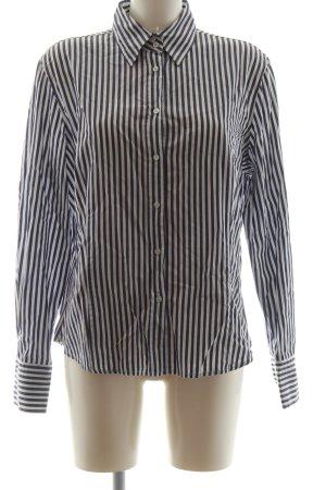 B. M. Company Shirt Blouse white-black striped pattern casual look
