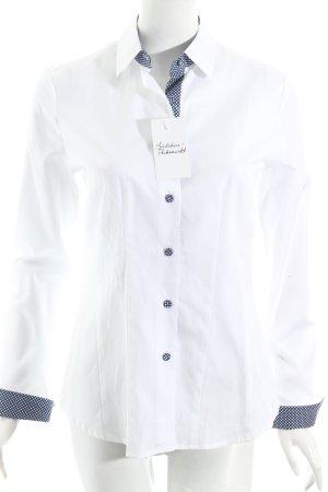 B. M. Company Hemdblouse wit klassieke stijl
