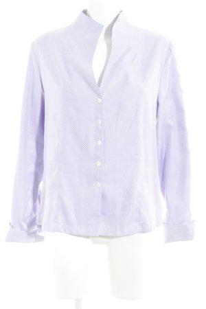 B. M. Company Shirt met lange mouwen paars-wit gestreept patroon zakelijke stijl