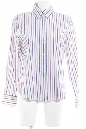 B. M. Company Long Sleeve Shirt striped pattern Mother-of-pearl buttons