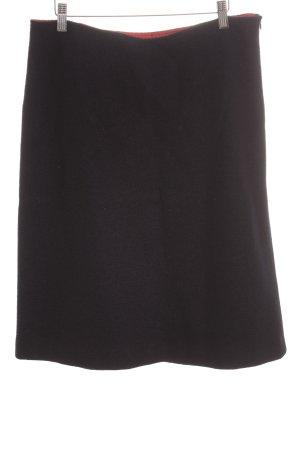 B. M. Company Gonna di lana blu scuro-rosso scuro puntinato stile casual