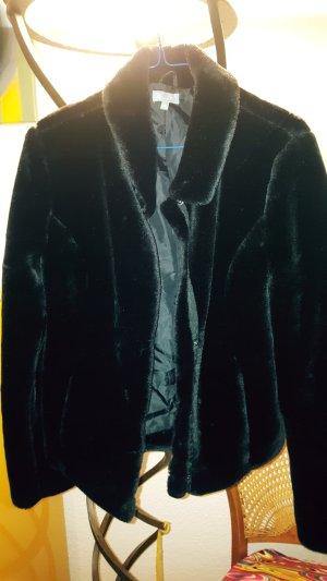 Giacca di pelliccia nero Tessuto misto