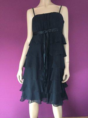 b.p.c. bonprix collection Kleid Gr. 40 Schwarz schwarzes Volantkleid Volant