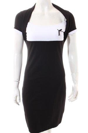 b.p.c. Bonprix Collection Kleid schwarz-weiß klassischer Stil