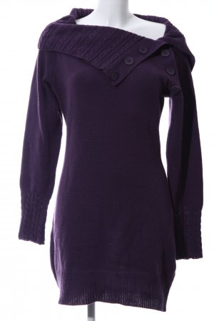 b.p.c. Bonprix Collection Long Sweater lilac cable stitch casual look