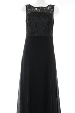 b.p.c. Bonprix Collection Maxi Dress black flower pattern elegant