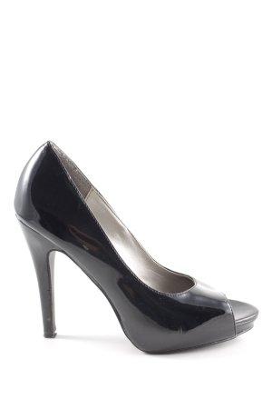 b.p.c. Bonprix Collection Peep Toe Pumps black casual look