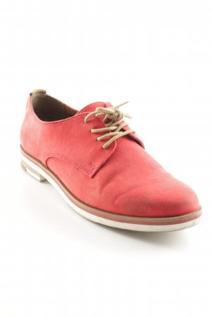 b.p.c. Bonprix Collection Schnürschuhe rot-sandbraun Casual-Look