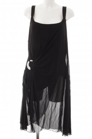 b.p.c. Bonprix Collection Vestido tipo overol negro look casual