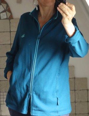 b.p.c. Bonprix Collection Sweat Jacket petrol-cadet blue cotton