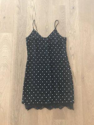 B&W Gepunktet Kleid von H&M