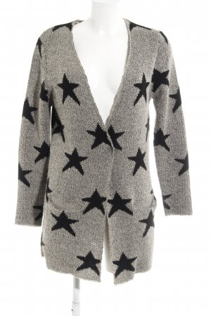 B.young Cardigan black-grey star pattern casual look