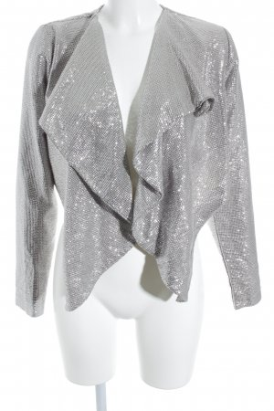 B.young Short Blazer silver-colored party style