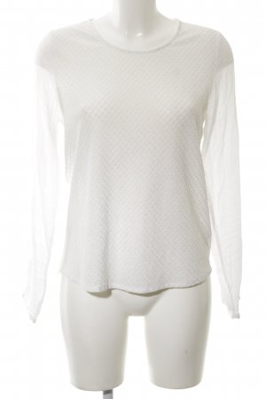 B.young Longsleeve white weave pattern elegant