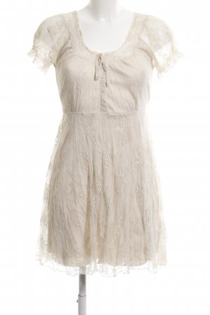 B.young Lace Dress cream flower pattern casual look