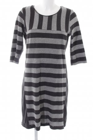 B.young Stretch Dress black-light grey striped pattern casual look
