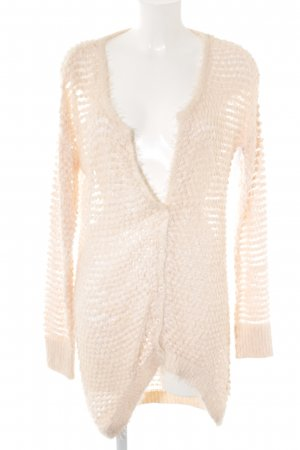 B.young Strick Cardigan rosé-weiß Lochstrickmuster Casual-Look