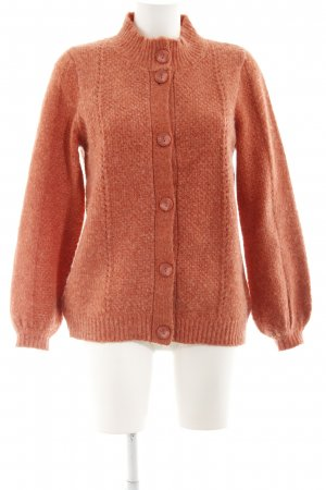 B.young Strickjacke dunkelorange Lochstrickmuster Casual-Look