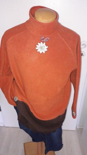 Sweatshirt orange foncé tissu mixte