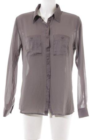 B.young Blusa trasparente marrone-grigio elegante