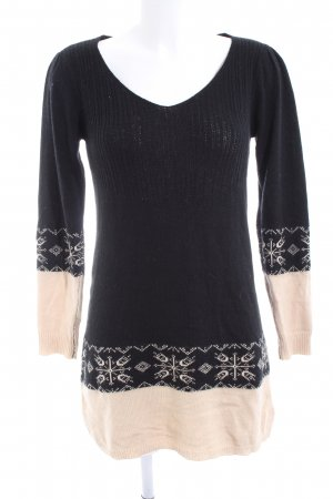 B.young Woolen Dress black-natural white graphic pattern casual look