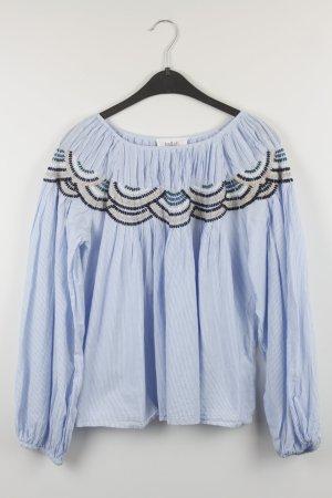 Ba&sh Bluse Gr. S blau weiß Boho gestreift (18/7/287/K)