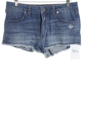 Ba&sh Pantalón corto de tela vaquera gris pizarra look Street-Style