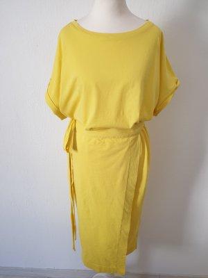 Ba&sh Robe mi-longue jaune coton