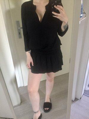 Ba&sh Robe mi-longue noir viscose