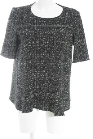 Ba&sh Kurzarmpullover schwarz-weiß schlichter Stil
