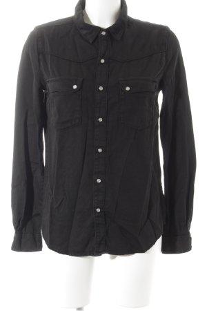 Ba&sh Langarm-Bluse schwarz Casual-Look