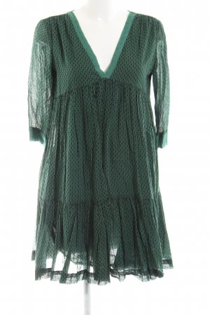 Ba&sh Langarmkleid grün-schwarz grafisches Muster Elegant