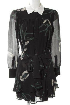 Ba&sh Robe à manches longues motif de fleur style décontracté