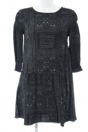 Ba&sh Jurk met lange mouwen zwart etnische print casual uitstraling