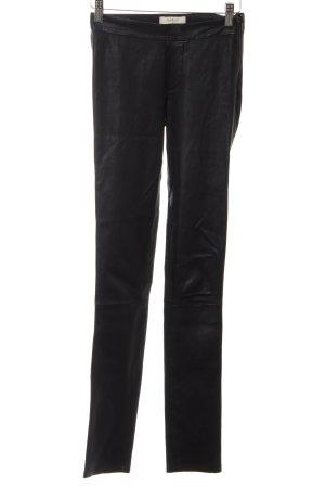 Ba&sh Lederhose schwarz schlichter Stil