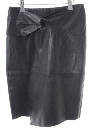 Ba&sh Jupe en cuir noir style décontracté