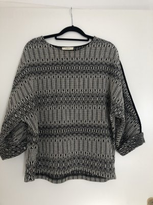 Ba&sh Crochet Sweater white-black