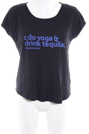 Ba&sh Print-Shirt schwarz sportlicher Stil