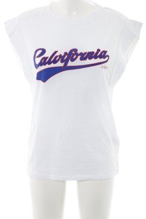 Ba&sh Camicia fantasia bianco caratteri stampati stile universitario