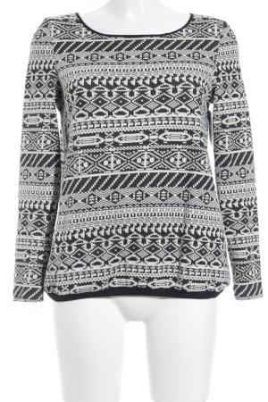 Ba&sh Rundhalspullover schwarz-weiß extravaganter Stil