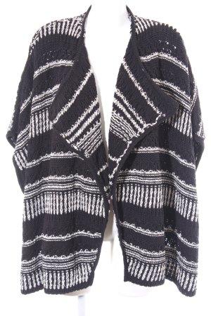 Ba&sh Giacca in maglia nero-bianco motivo a righe stile casual