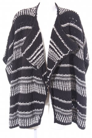 Ba&sh Gebreid jack zwart-wit gestreept patroon casual uitstraling