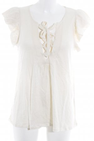 Ba&sh T-shirt crema stile classico