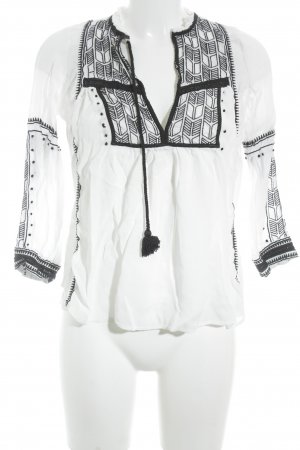 Ba&sh Tuniekblouse zwart-wit Beach-look