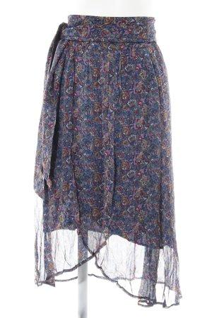 Ba&sh Jupe portefeuille bleu motif floral style Boho