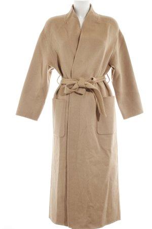 Ba&sh Cappotto in lana color cammello stile semplice