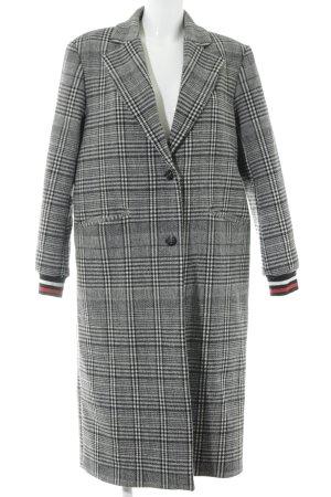 Ba&sh Cappotto in lana motivo a quadri stile casual