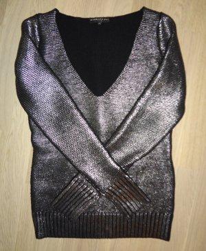 Babara Bui Pullover schwarz und silber Größe S