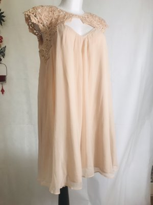 Baby Doll Damen Kleid mit Edler Spitze Lipsy London Rose Neu XL