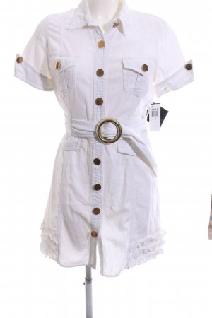 Baby Phat Shirtwaist dress white embroidered lettering casual look